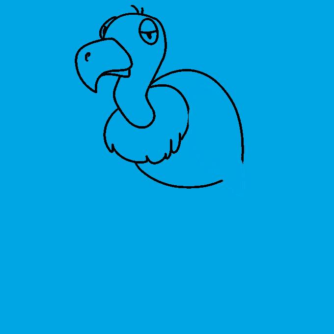 Cómo dibujar buitre: paso 7