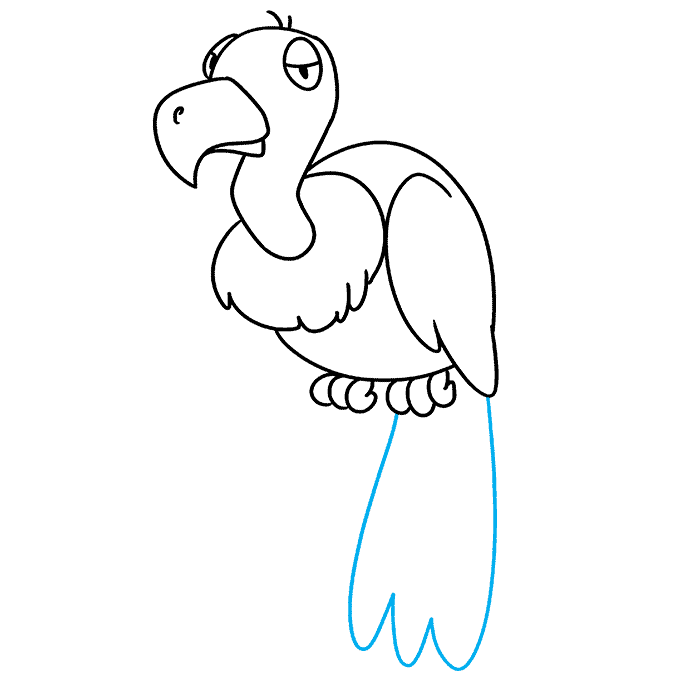 How to Draw Vulture: Step 9