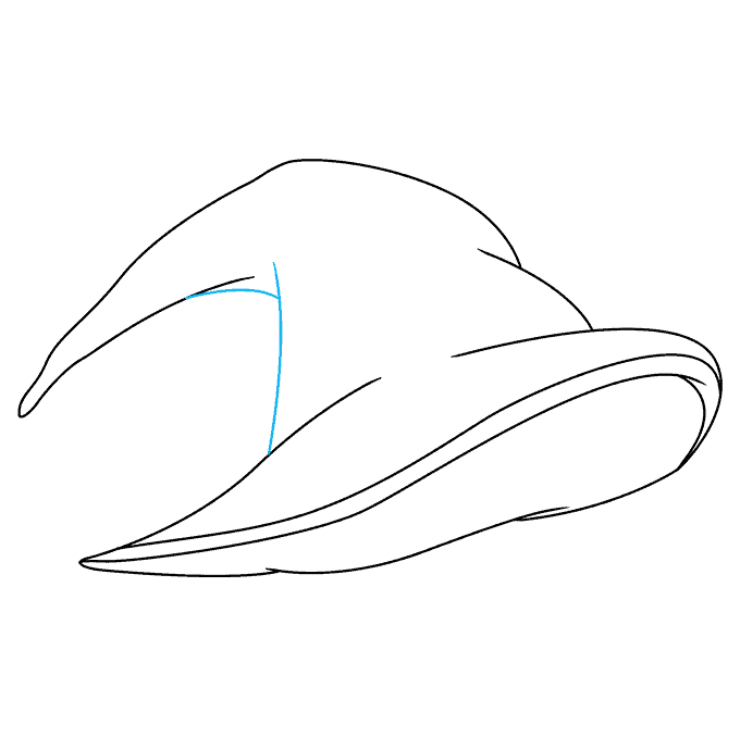 How to Draw a Witch Hat Step 05