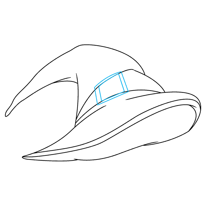 How to Draw a Witch Hat Step 07