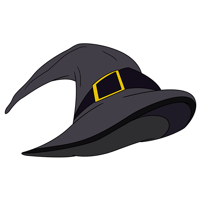 How to Draw a Witch Hat Step 10