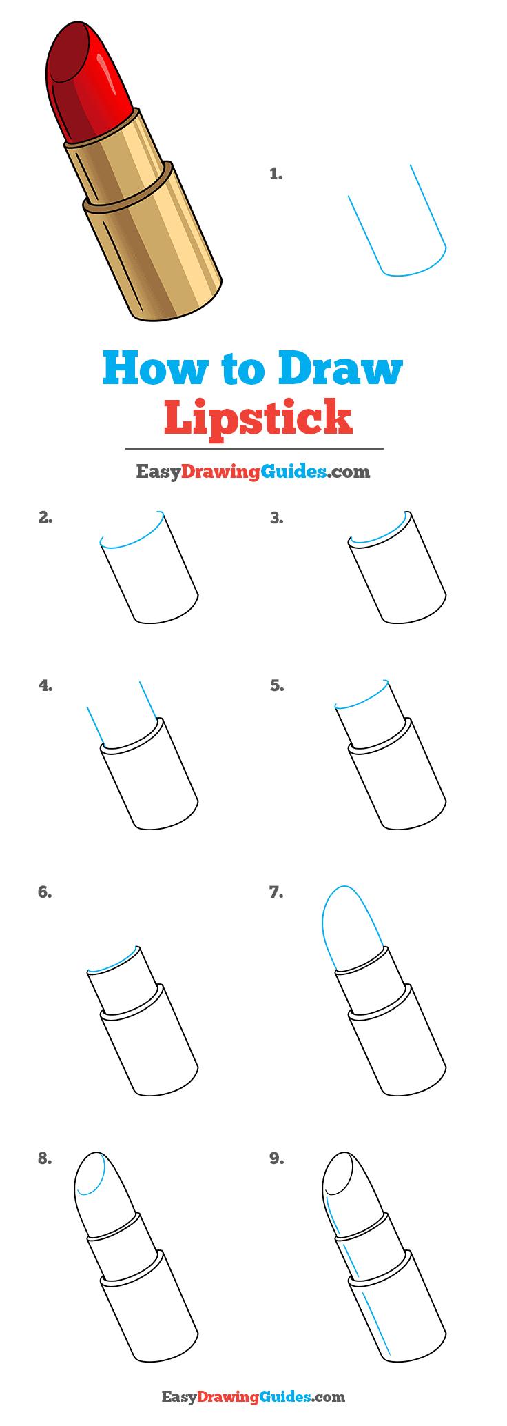 How to Draw Lipstick