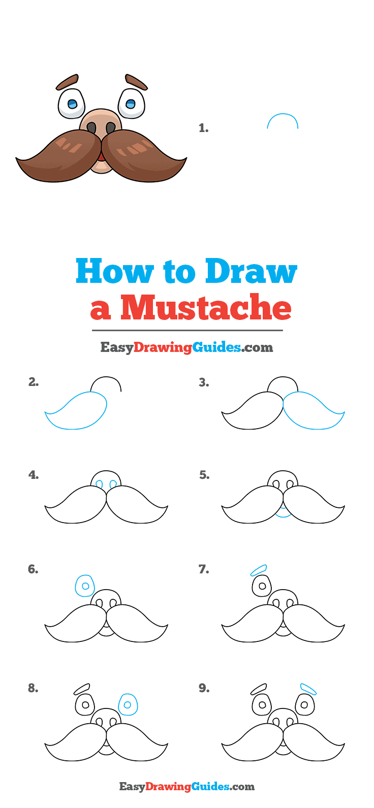 How to Draw Mustache