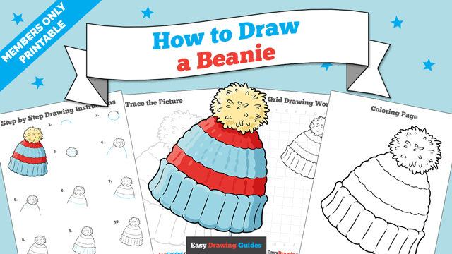 download a printable PDF of Beanie drawing tutorial