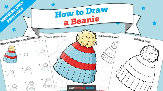 Printables thumbnail: How to draw a Beanie