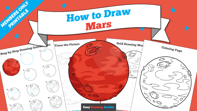 download a printable PDF of Mars drawing tutorial