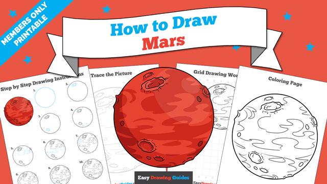 Printables thumbnail: How to draw Mars