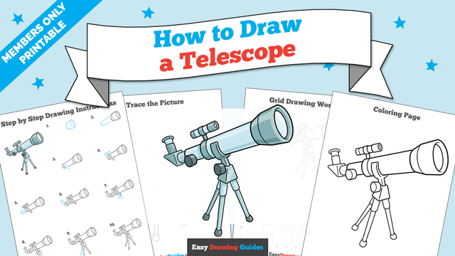 download a printable PDF of Telescope drawing tutorial