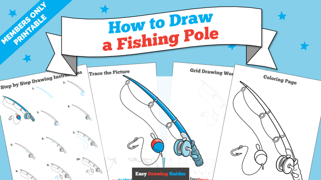 download a printable PDF of Fishing Pole drawing tutorial
