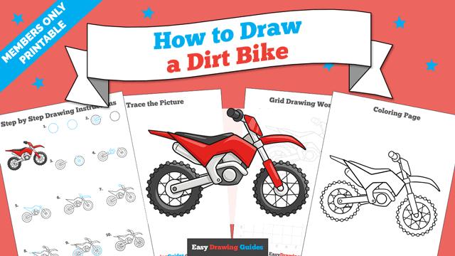 Printables thumbnail: How to draw a Dirt Bike