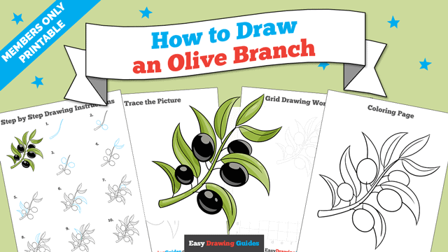 download a printable PDF of Olive Branch drawing tutorial