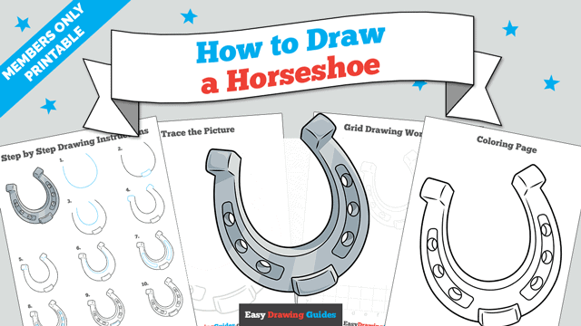 download a printable PDF of Horseshoe drawing tutorial