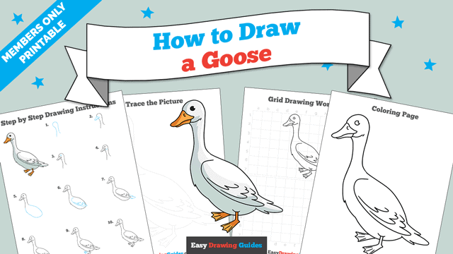 download a printable PDF of Goose drawing tutorial