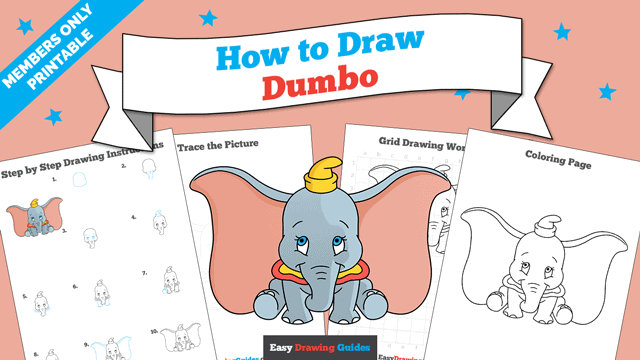 download a printable PDF of Dumbo drawing tutorial