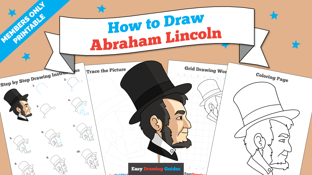 download a printable PDF of Abraham Lincoln drawing tutorial
