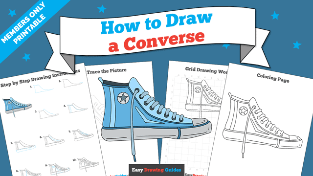 download a printable PDF of Converse drawing tutorial