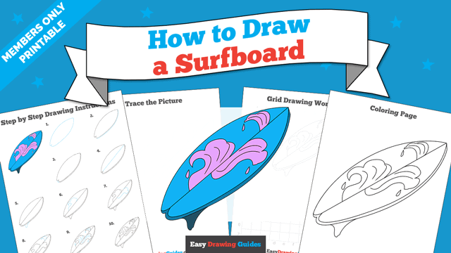 Printables thumbnail: How to draw a Surfboard