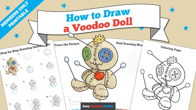 download a printable PDF of Voodoo Doll drawing tutorial