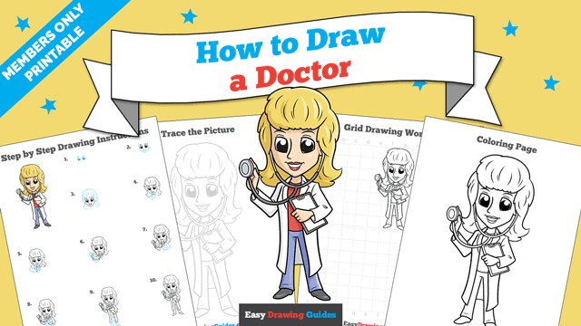 download a printable PDF of Doctor drawing tutorial