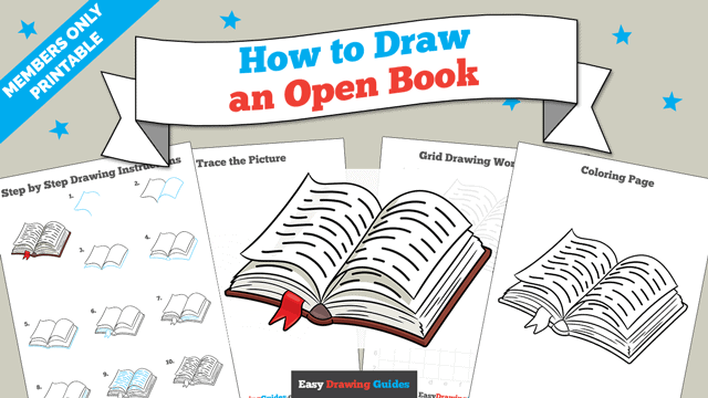 download a printable PDF of Open Book drawing tutorial