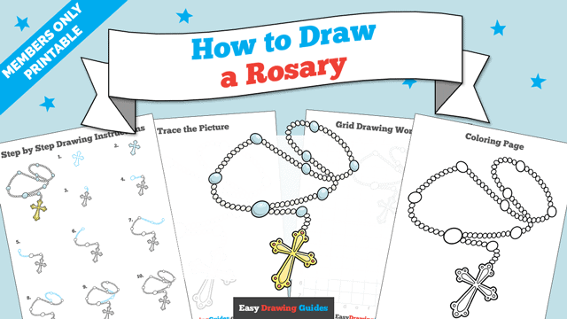 download a printable PDF of Rosary drawing tutorial
