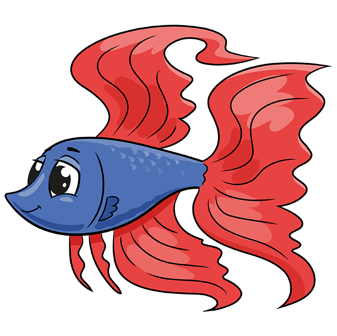 How to Draw a Betta Fish Step 10