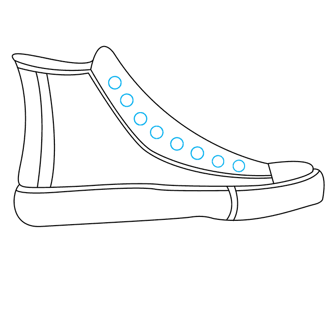 How to Draw Converse: Step 6