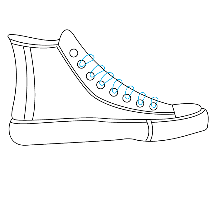 How to Draw Converse: Step 7
