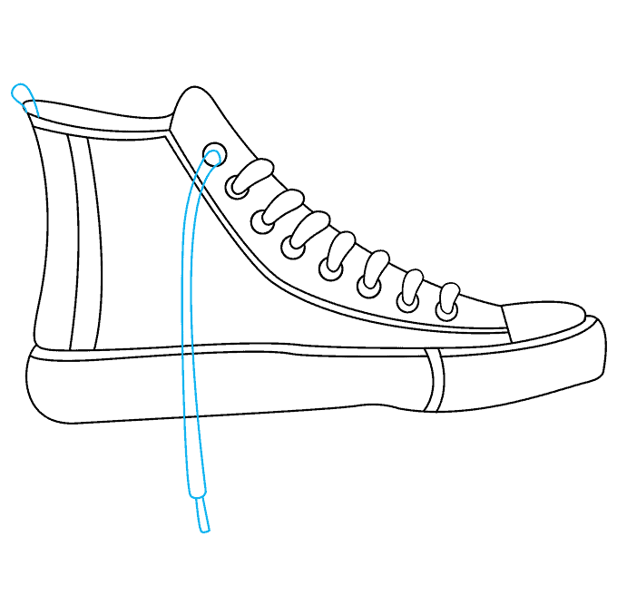 How to Draw Converse: Step 8
