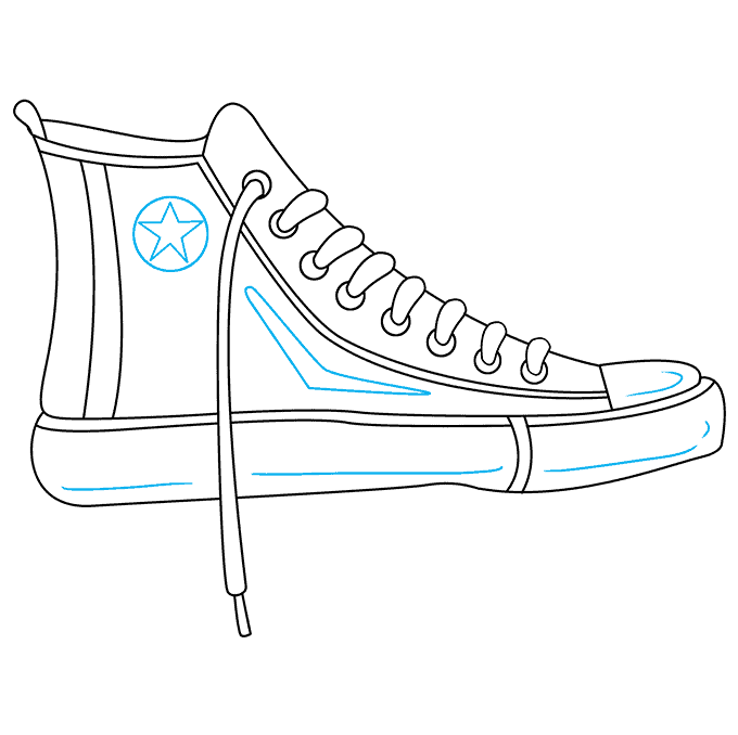 How to Draw Converse: Step 9