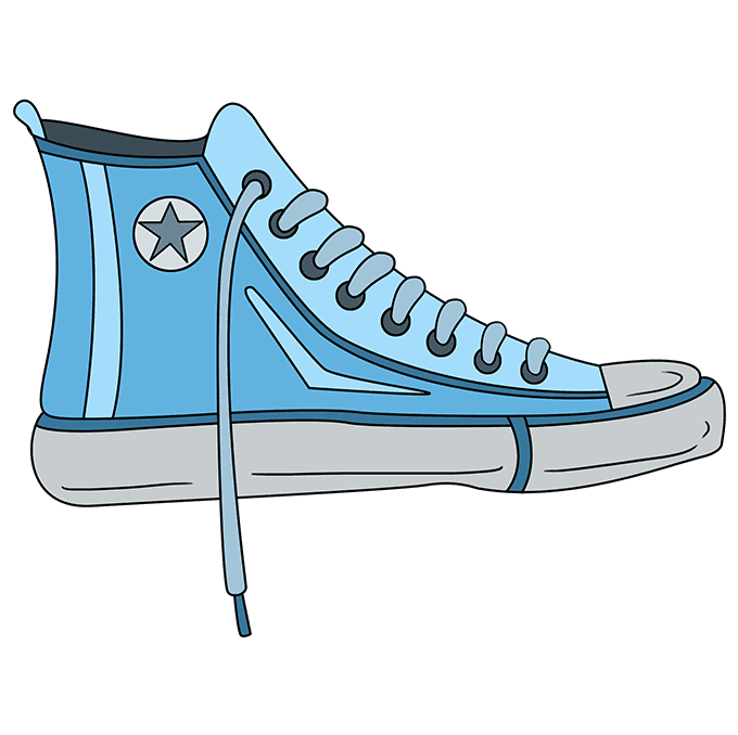How to Draw Converse: Step 10
