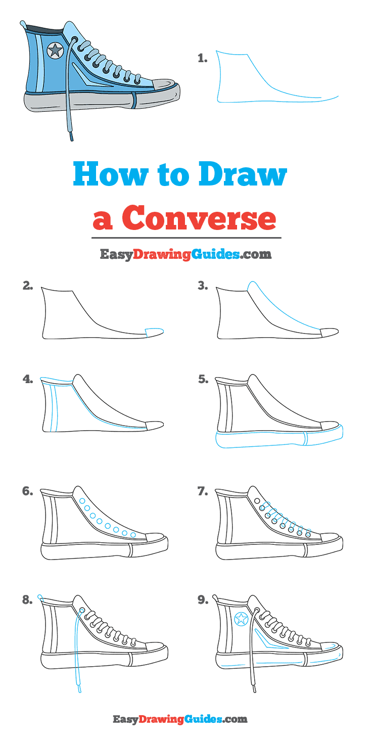 How to Draw Converse