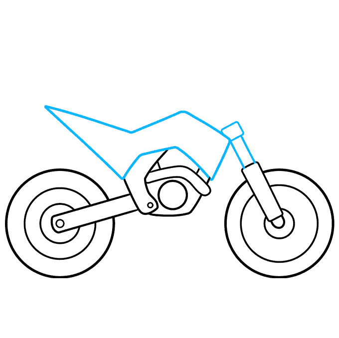 How to Draw a Dirt Bike Step 05