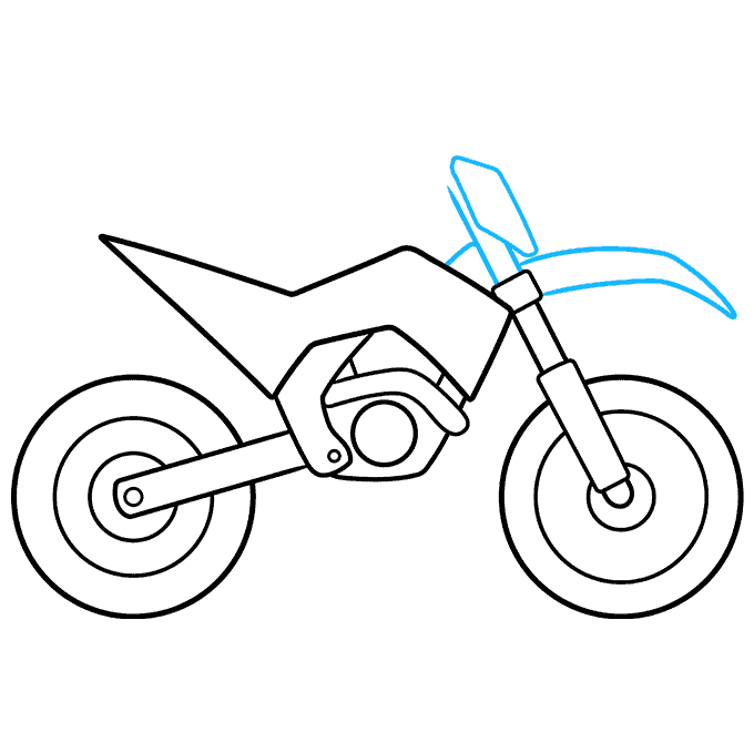 How to Draw Dirt Bike: Step 6