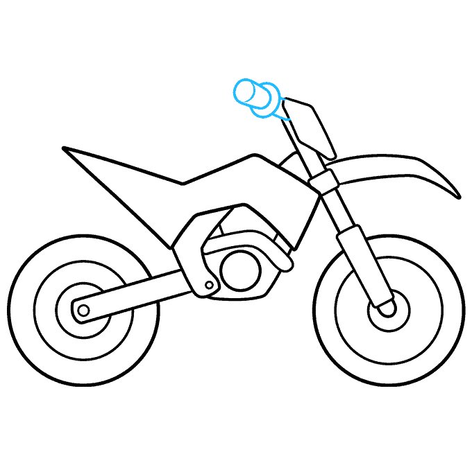 How to Draw a Dirt Bike Step 07