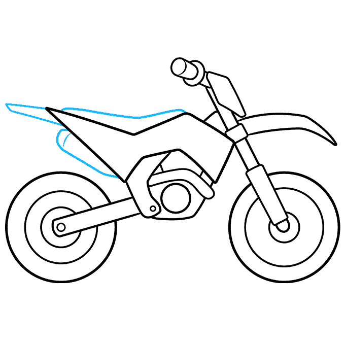How to Draw Dirt Bike: Step 8