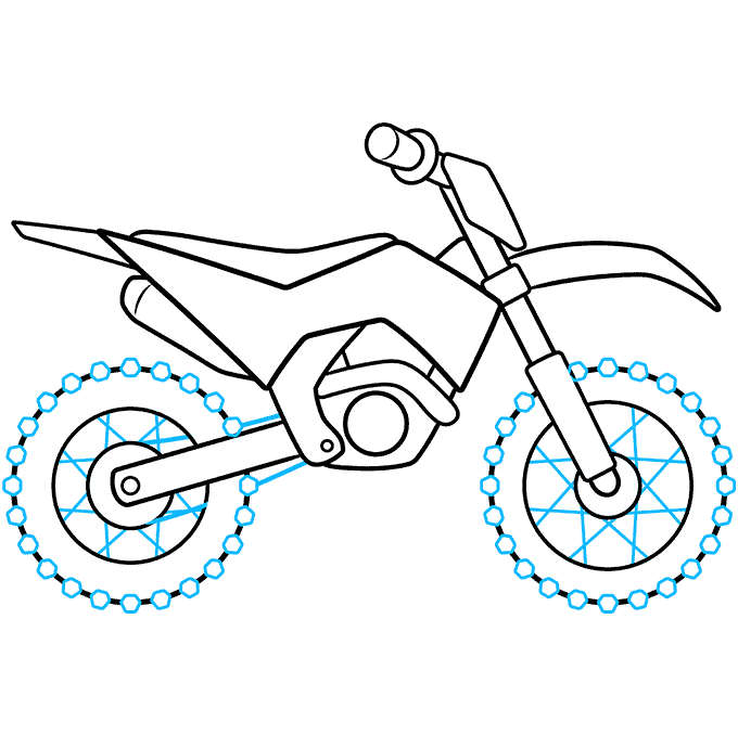 How to Draw a Dirt Bike Step 09