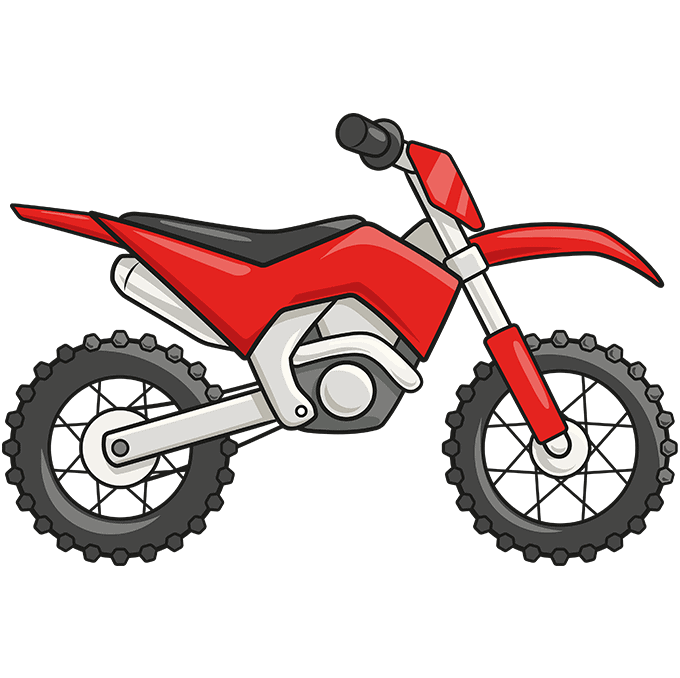 How to Draw a Dirt Bike Step 10