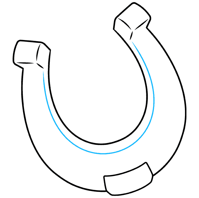 How to Draw Horseshoe: Step 6