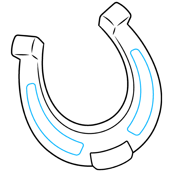How to Draw Horseshoe: Step 7
