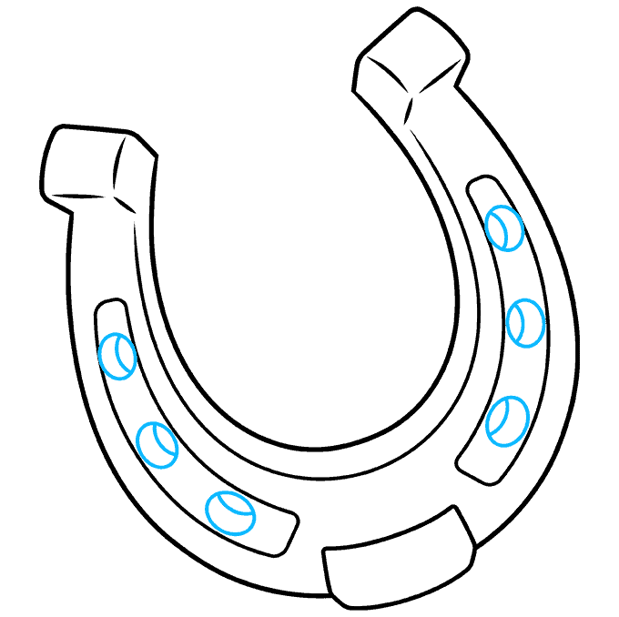 How to Draw Horseshoe: Step 8