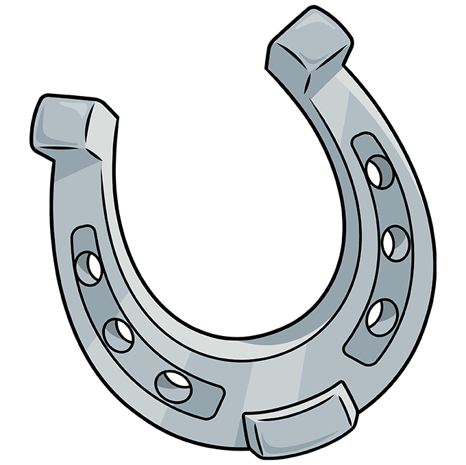How to Draw Horseshoe: Step 10