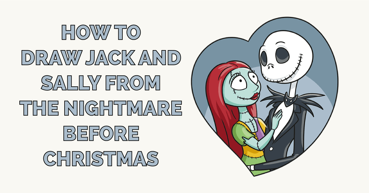 How to Draw Jack and Sally from the Nightmare before Christmas Featured Image