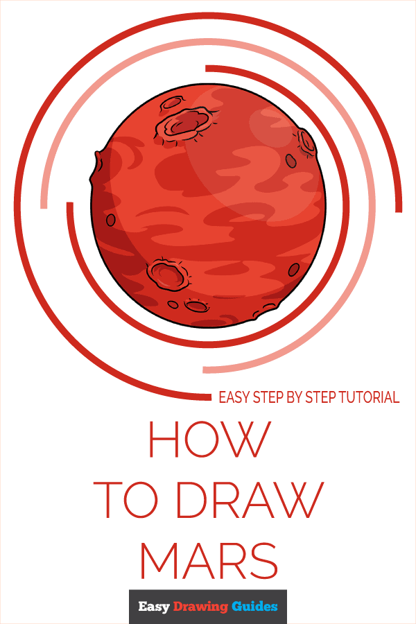 How to Draw Mars | Share to Pinterest