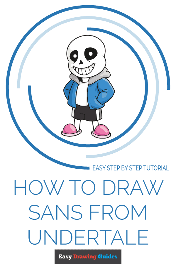 How to Draw Sans from Undertale | Share to Pinterest