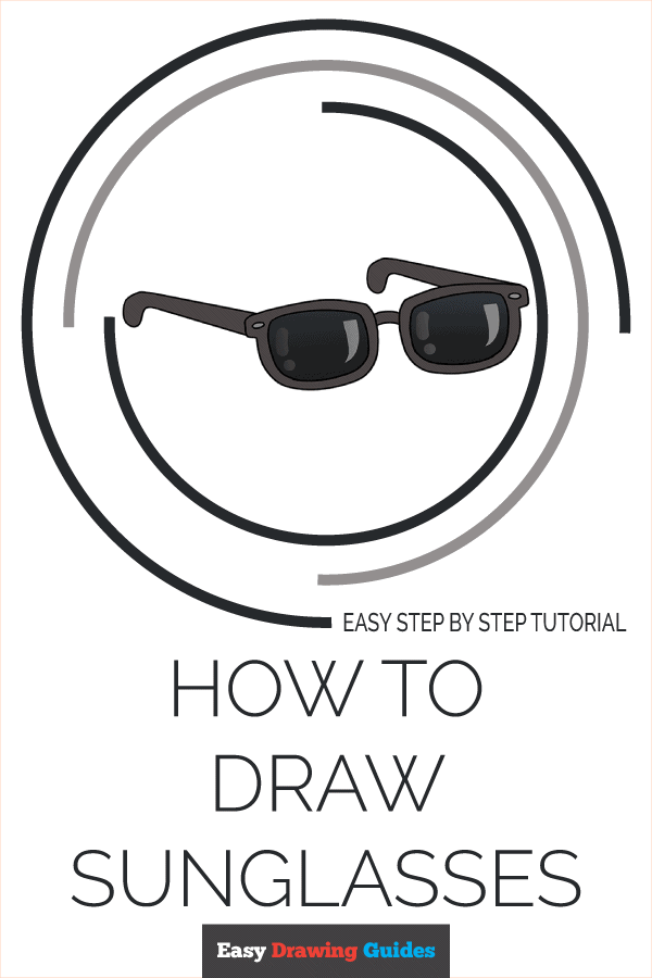 How to Draw Sunglasses | Share to Pinterest