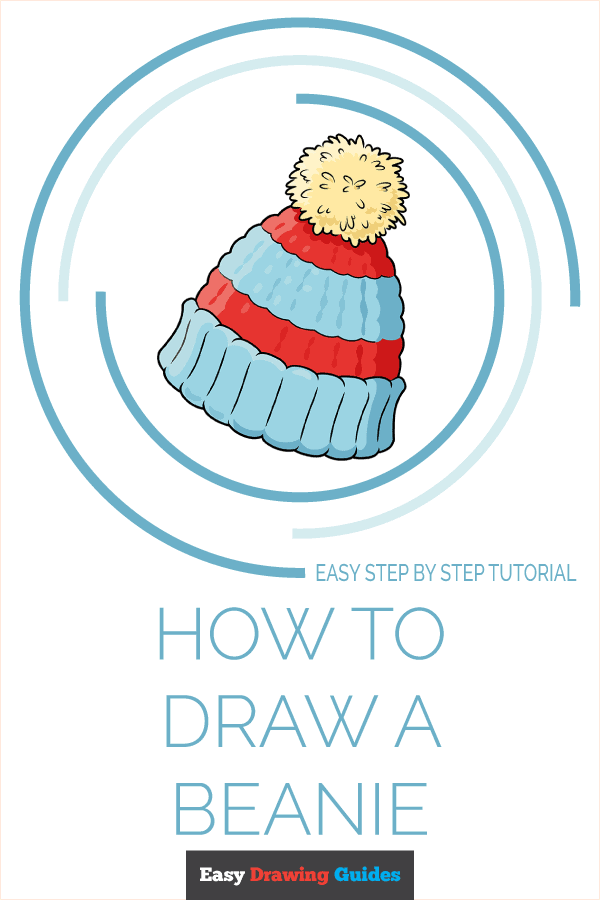 How to Draw a Beanie Pinterest Image