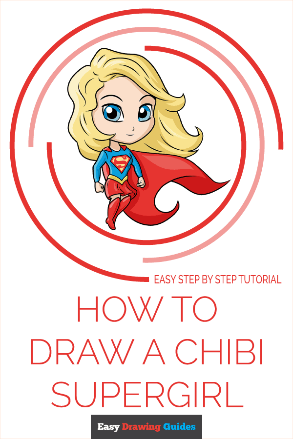 How to Draw Chibi Supergirl | Share to Pinterest