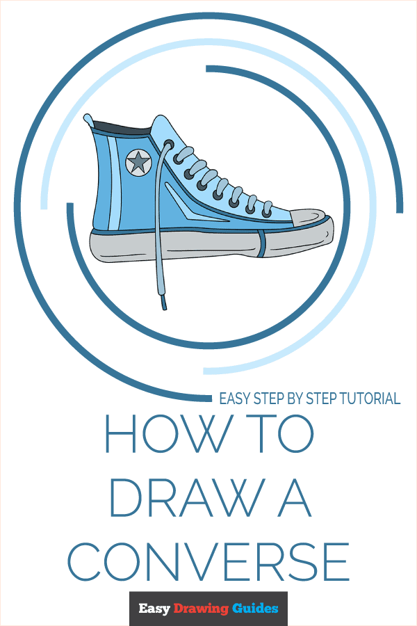 How to Draw Converse | Share to Pinterest