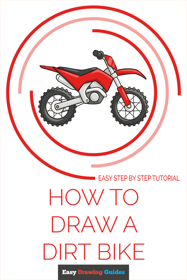 How to Draw a Dirt Bike Pinterest Image